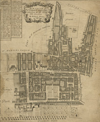 The parish of St. James's, Westminster taken from the last survey with corrections (1685)